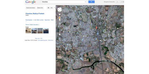 Die Stadt Khandwa in Indien.