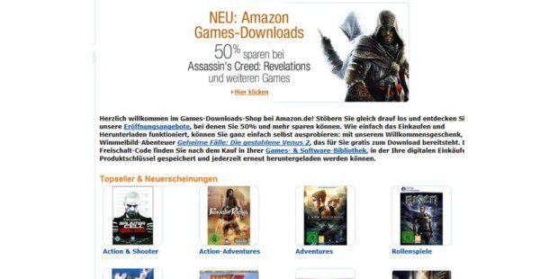 Amazon.de startet neuen Download-Service für Spiele und Software