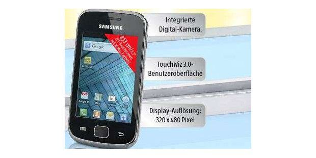 Das Samsung Galaxy Gio (GT-S5660) gibt es bei Aldi Süd ab dem 3.5. für 129 Euro.