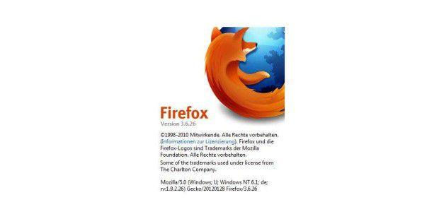 Firefox 3.6 erhält seit kurzem keine Sicherheits-Updates mehr. Ein automatisches Update auf Firefox 12 macht also Sinn.