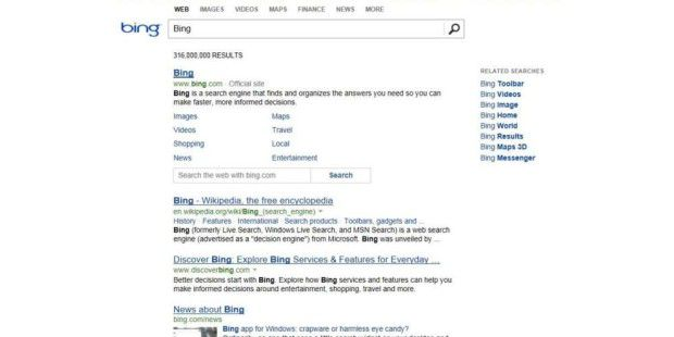 Der neue Bing-Look