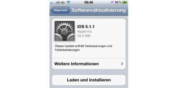 Update auf iOS 5.1.1 verfügbar