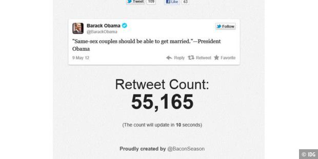 Obama-Tweet bricht Retweet-Rekorde