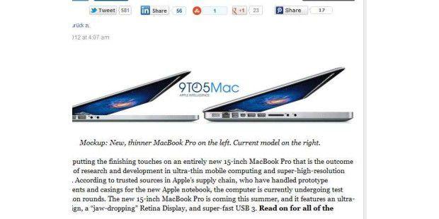 Entwurf des neuen MacBook Pro