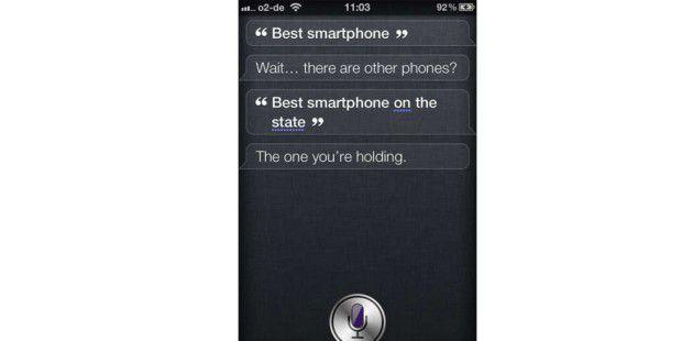 Siri findet das iPhone wieder super