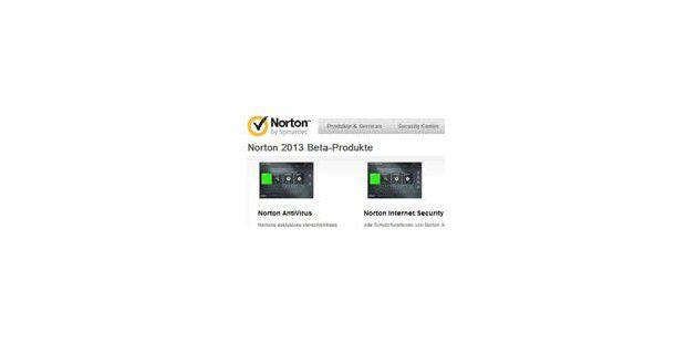 Norton 2013 Beta kann getestet werden