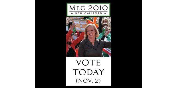 Im Wahlkampf 2010 warb Meg Whitman mit dem Versprechen, neue Jobs zu schaffen (Foto: Facebook-Auftritt von Meg Whitman).