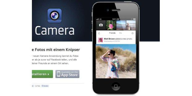 "Facebook-App ""Camera"""