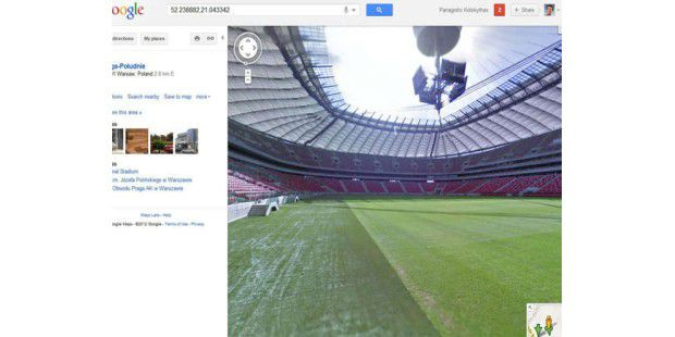 Fußball-EM-Stadien auf Google Street View