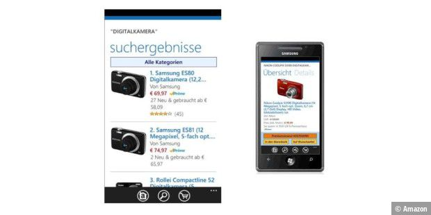 Amazon App für Windows Phon