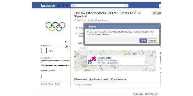Olympia-Scam bei Facebook