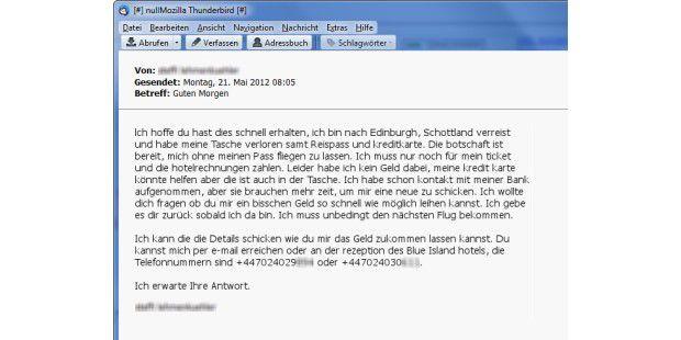 Beispiel 2: Stranded Friend Scam