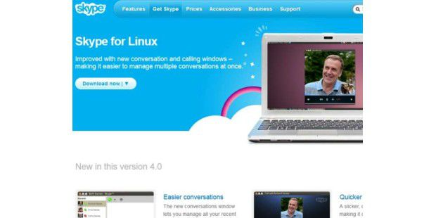 Skype für Linux 4.0