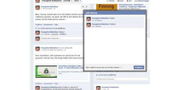 Facebook mit neuer Editier-Funktion