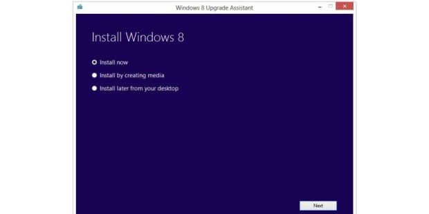 Upgrade Assistant von Windows 8 Pro