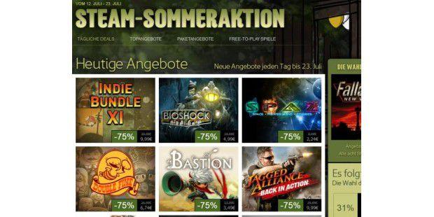 Steam-Sommeraktion mit neuen Angeboten
