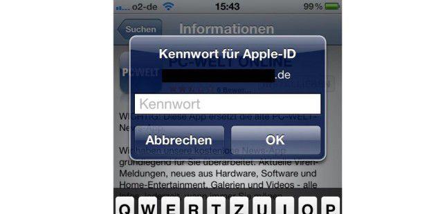 iOS 6 vereinfacht Passwort-Abfrage