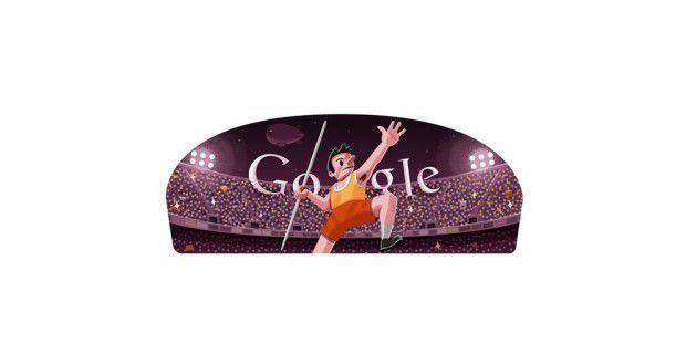Google ehrt die Olympischen Spiele in London mit passenden Doodles. Hier: Speerwurf. Doch für einige Google-Dienste sind die Spiele bereits vorbei.