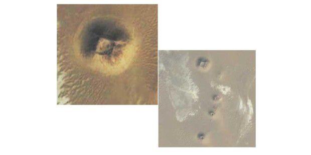 Erster Fundort auf Google Earth