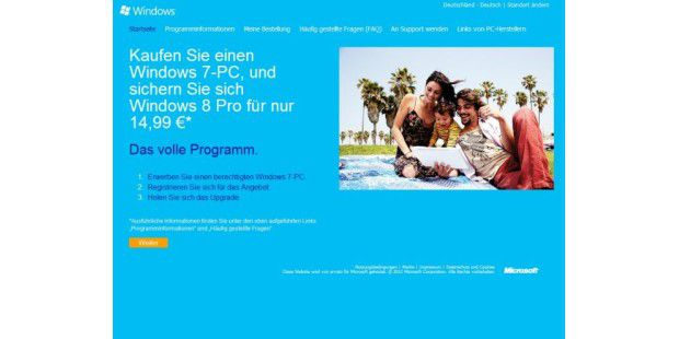 Windows 8 Pro für 14,99 Euro