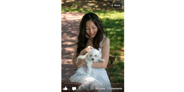 Facebook-App 5.0 für iOS öffnet auch Fotos schneller