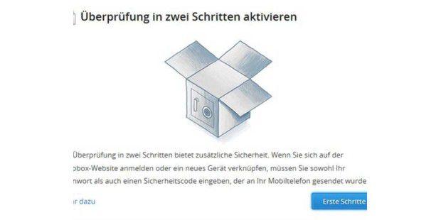 Dropbox mit neuer 2-Faktor-Authentifizierung