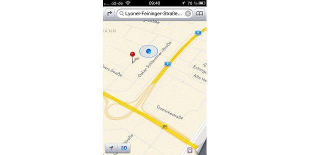 iOS 6: Neue Kartenfunktion