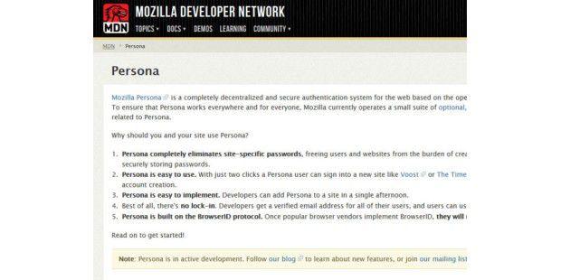 Mozilla-Projekt: Persona