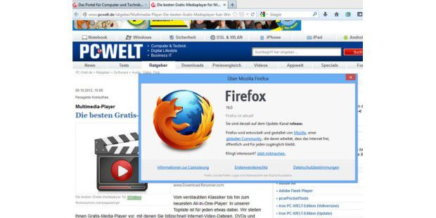 Firefox 16 ist erschienen