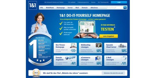 Gratis-Webapps für 1&1 Do-It-Yourself Homepage