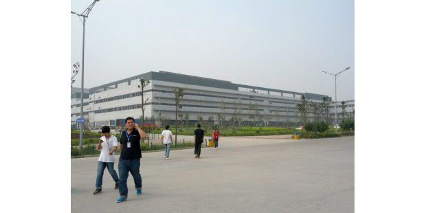 Eine Foxconn-Fabrik in Zhengzhou, China.