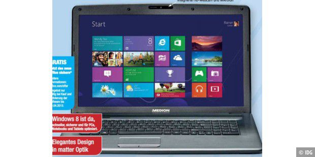 Aldi Nord bietet neues Windows-8-Notebook an