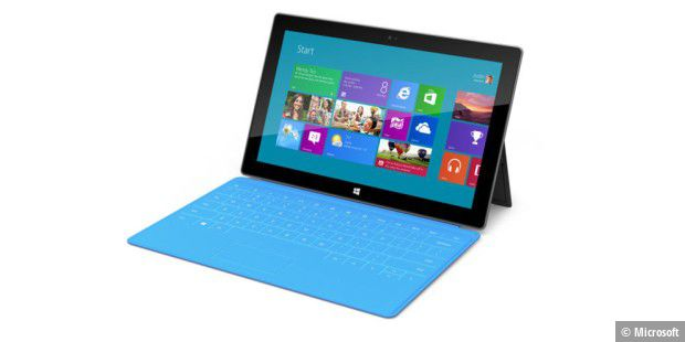 Tablet mit Ansteck-Tastatur: Surface