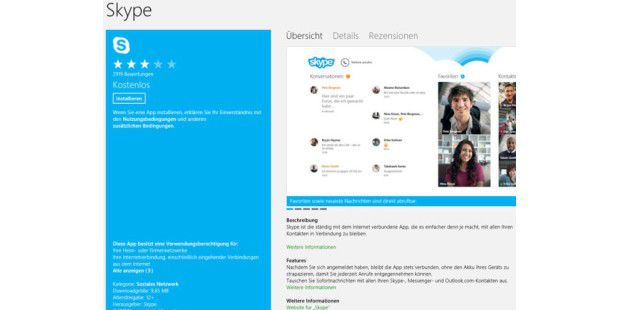 Skype in neuer Version