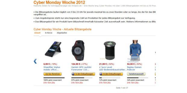 Amazon zelebriert Cyber Monday in Deutschland