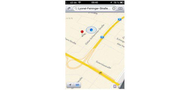 Karten-App in iOS 6