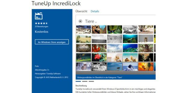 TuneUp IncrediLock: Gratis-App für Windows 8
