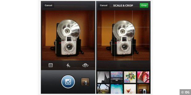 Instagram-App in neuer Version