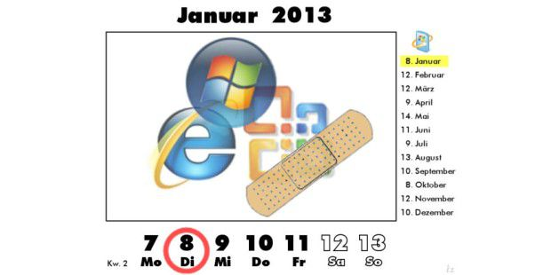 erster Microsoft Patch Day 2013