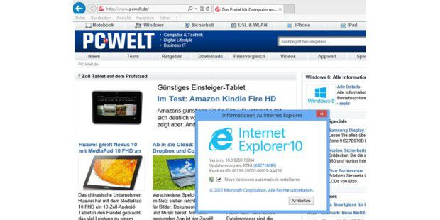 Toolkit von Microsoft stoppt Installation des IE10 auf Windows-7-PCs