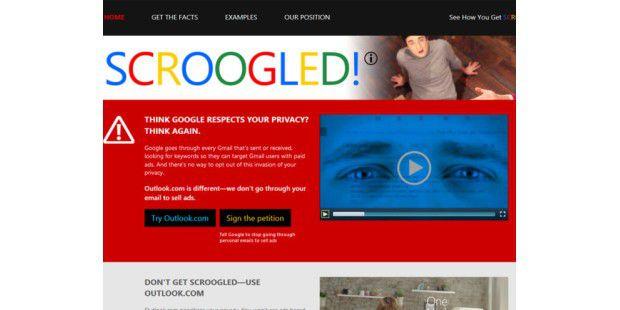 Scroogled - Anti-Gmail-Kampagne von Microsoft
