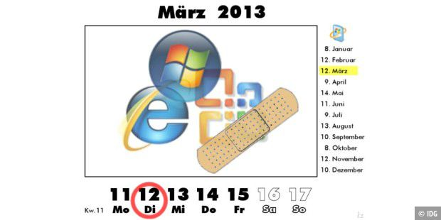 Microsoft Patch Day am 12. März