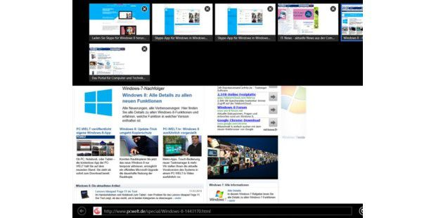 IE 10 unter Windows 8 & Windows RT