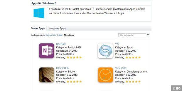 windows 8 app tests jetzt direkt in ihr mail postfach pc welt. Black Bedroom Furniture Sets. Home Design Ideas