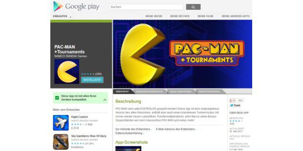 Pac-Man+ Tournaments für Androiden