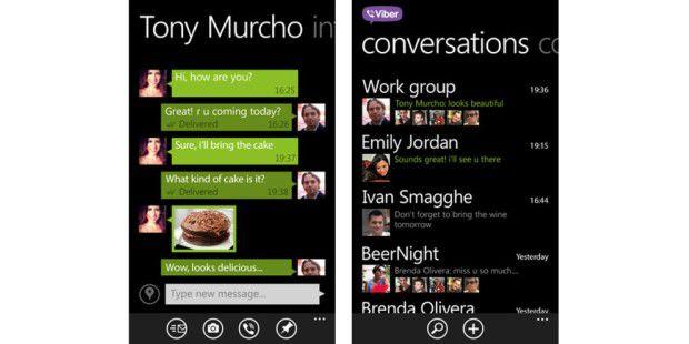 Viber ist ab sofort auch für Windows Phone 8 erhältlich