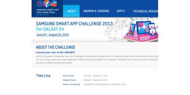 Samsung Smart App Challenge 2013 for Galaxy S4