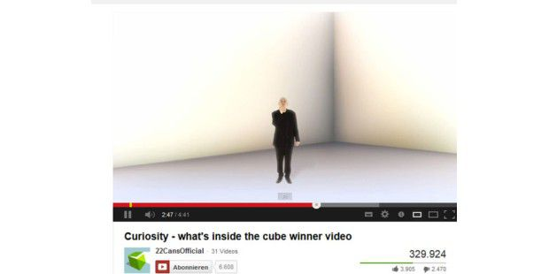 Curiosity – what's inside the cube hat einen Gewinner