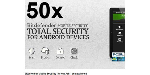 50x Bitdefender Mobile Security
