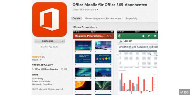 Office Mobile für Office-365-Nutzer